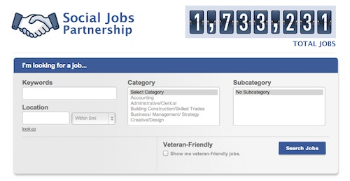 Facebook has  officially launched its 'Social Jobs Partnership' app—in partnership with the US Department of Labor, the National Association of Colleges and Employers, DirectEmployers Association, and the National Association of State Workforce Agencies.    source: Design Taxi