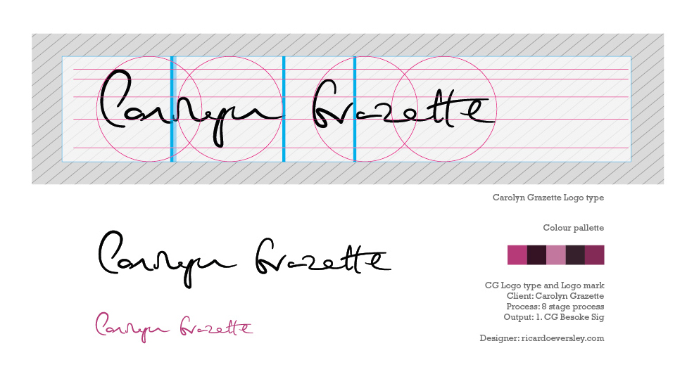 Process: Bespoke Signature created for  www.carolyngrazette.com