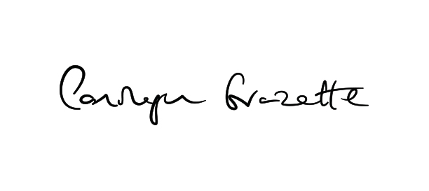 Final Signature by [ricardoeversley.com] (Personalised signature for Personal Trainer Carolyn Grazette)   View project:  www.carolyngrazette.com