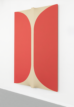 Sven Lukin at Gary Snyder Gallery    Cheek to Cheek    1963-1971   Acrylic on canvas   857/8 x 52 x 51/4 inches