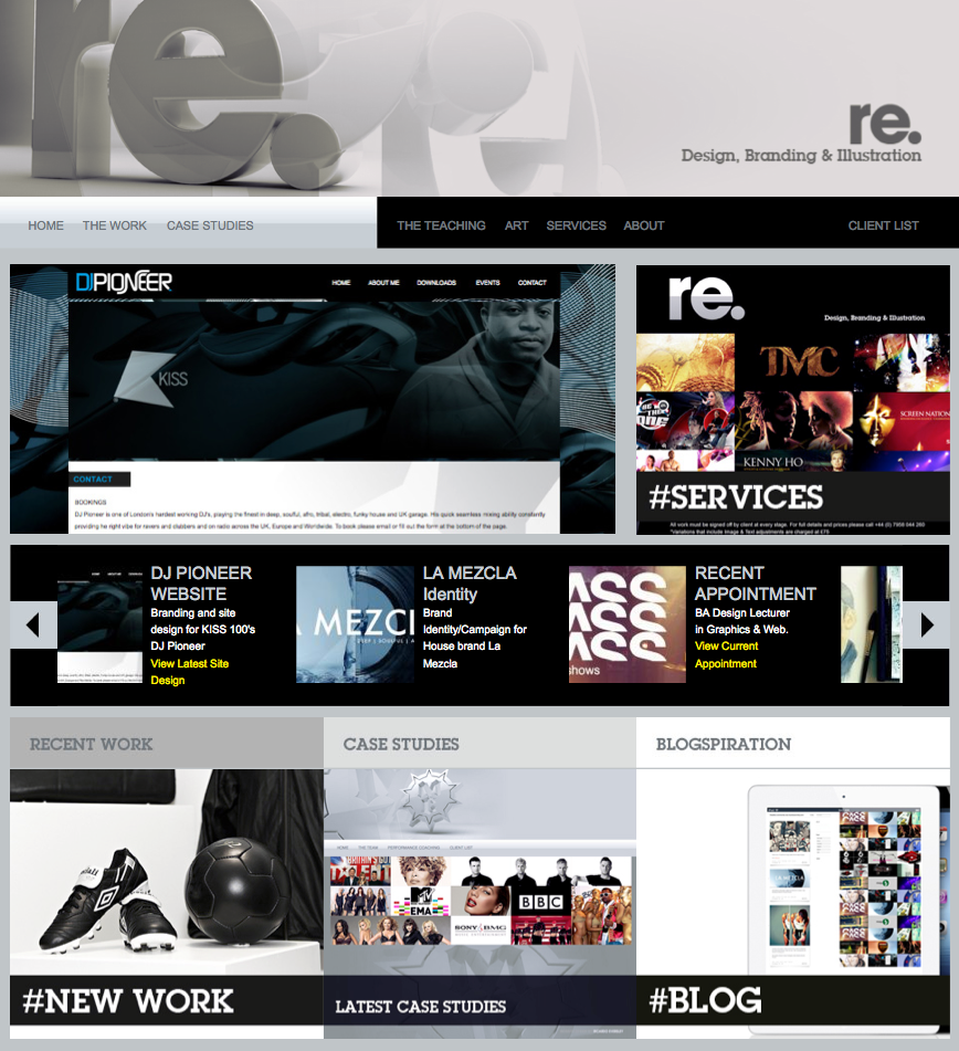 New website uploads [www.ricardoeversley.com]