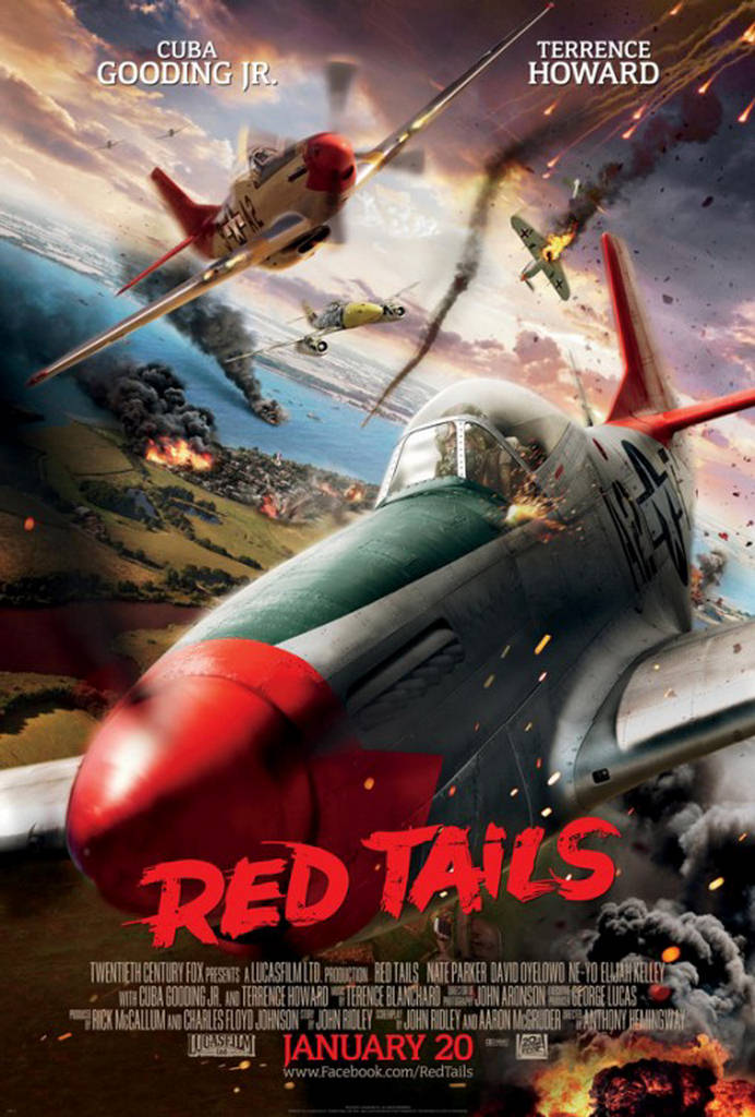 2012 movie diary. [ Red Tails ] A crew of African American pilots in the Tuskegee training program, having faced segregation while kept mostly on the ground during World War II, are called into duty under the guidance of Col. A.J. Bullard.
