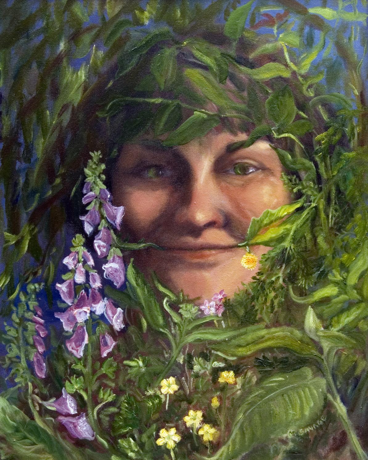 Portrait of a Green Woman