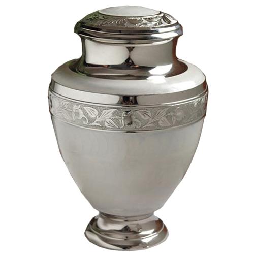 White Nickel Urn $395.00