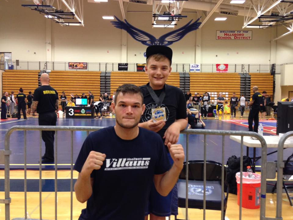 Robert and proud coach Cody after his impressive victory at the 2015 Oregon Open