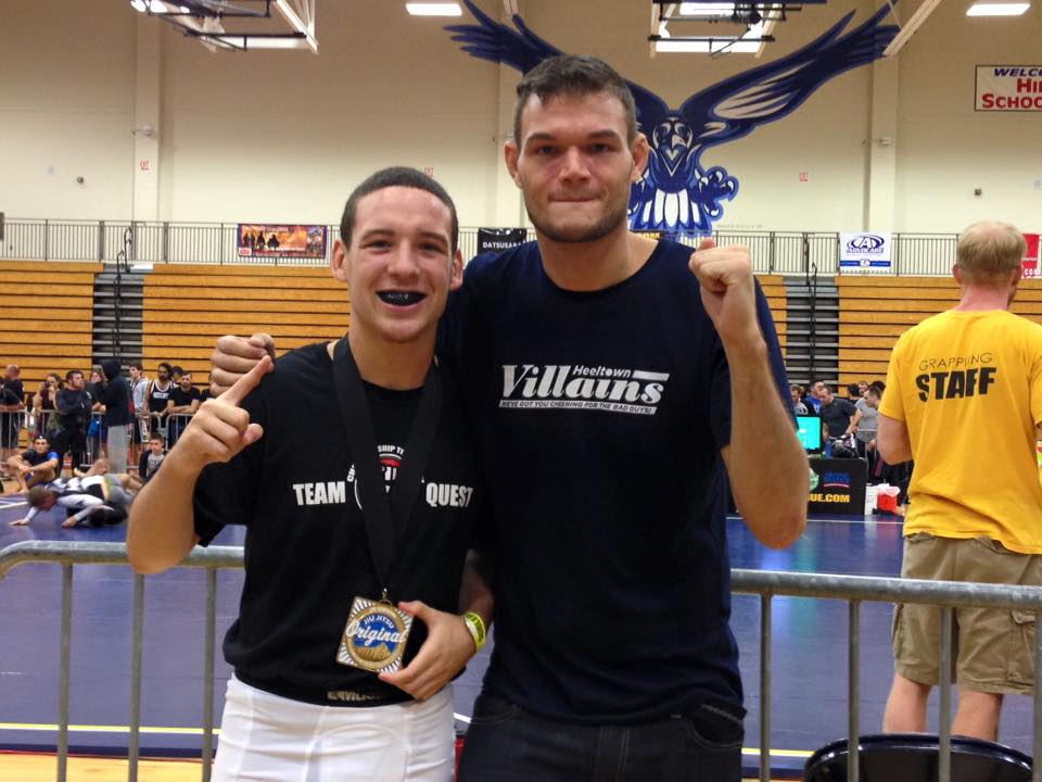 Keaneo Moyer wins gold at the 2015 Oregon Open. Big smiles!