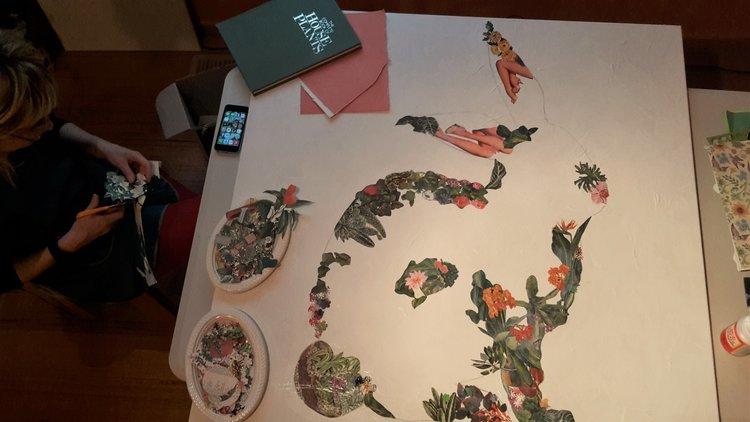 Collaborative work between myself, and sculptural mosaic artist,  Jessie Yvette Journoud-Ryan .
