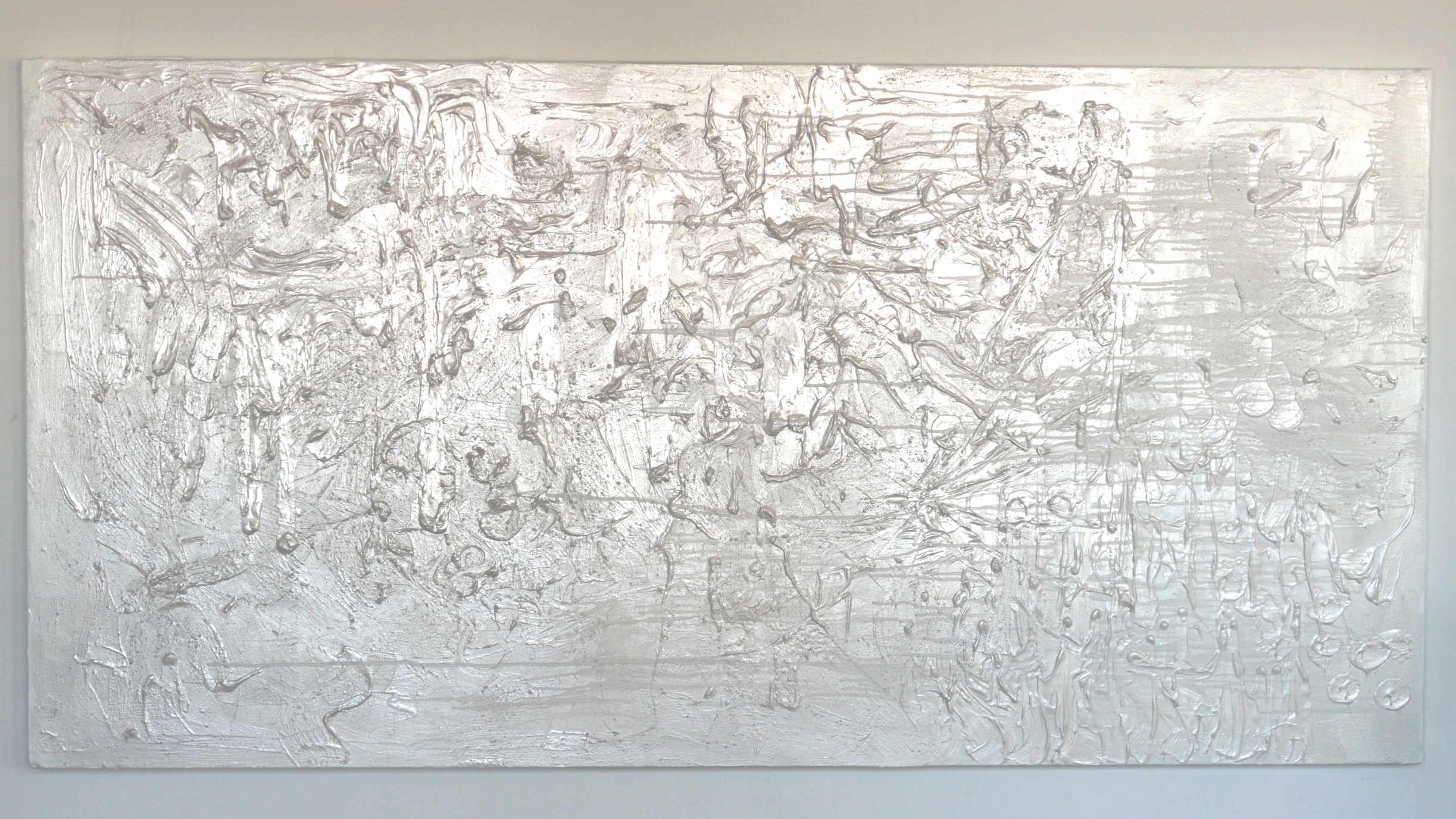 """Title : """"Soul Landscape II"""" 2015   Size : 4' by 8'   Price  $ 9,600.00   IN : MO_012"""