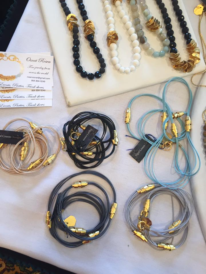 Osnat Rosen Designs - We are excited to welcome Osnat Rosen Designs to the Festival! Purchase Israeli inspired handmade jewelry. Osnat Rosen Designs is based out of Greenville, SC.