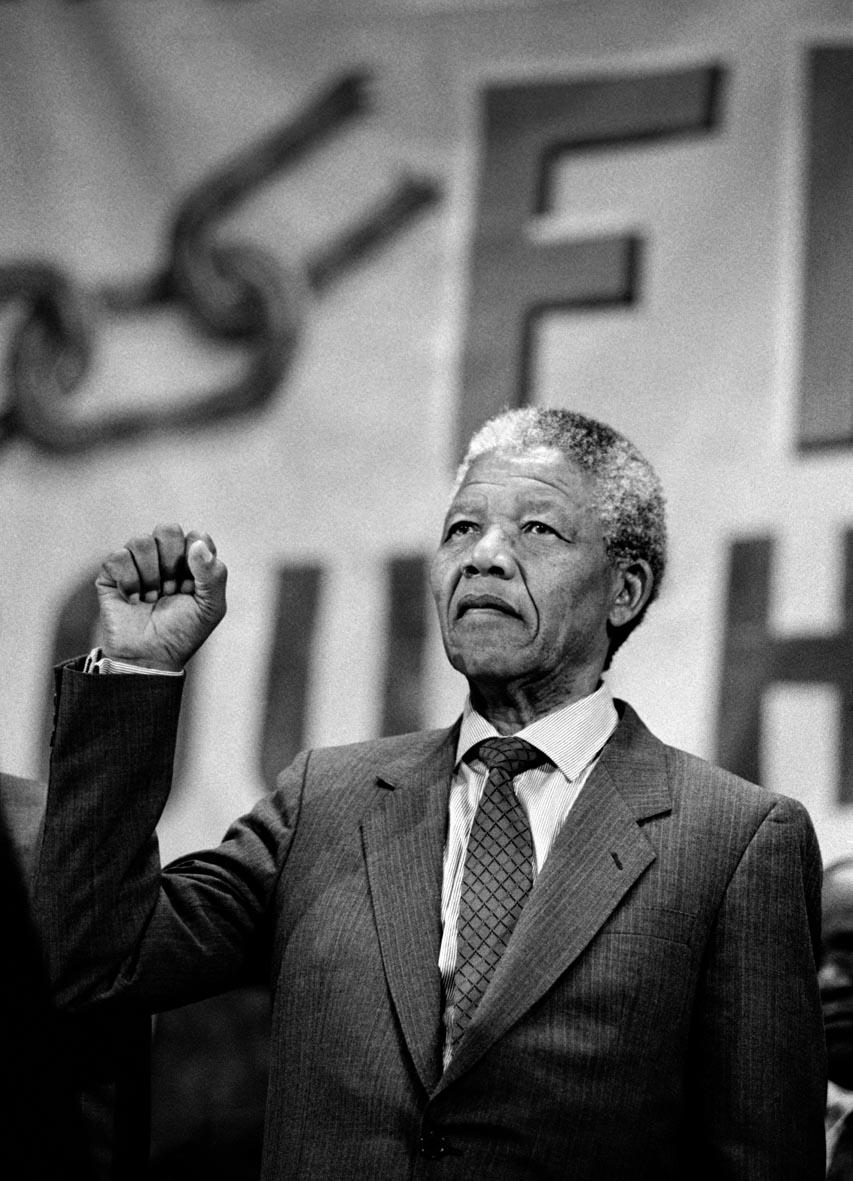 Nelson Mandela by Andrew Chapman