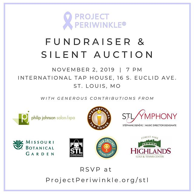 Saint Louis!! We have an updated list of generous donors for our silent auction!! Join us on November 2 for a great evening and to support our amazing cause!  RSVP by visiting our website.