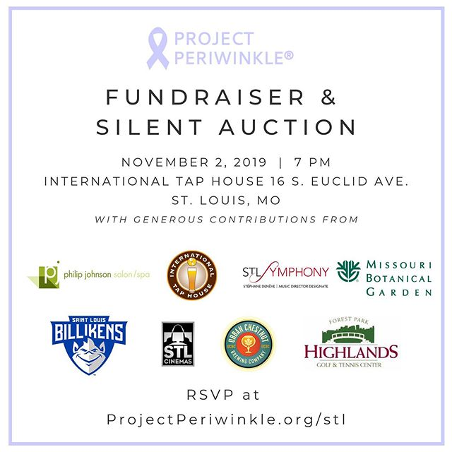 Our silent auction lineup for our Nov. 2 event in Saint Louis is growing and has amazing items!  Join us to kick off stomach cancer awareness month and help to support our work and fight back against cancer!  Visit our website to RSVP.
