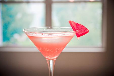 fresh watermelon martini