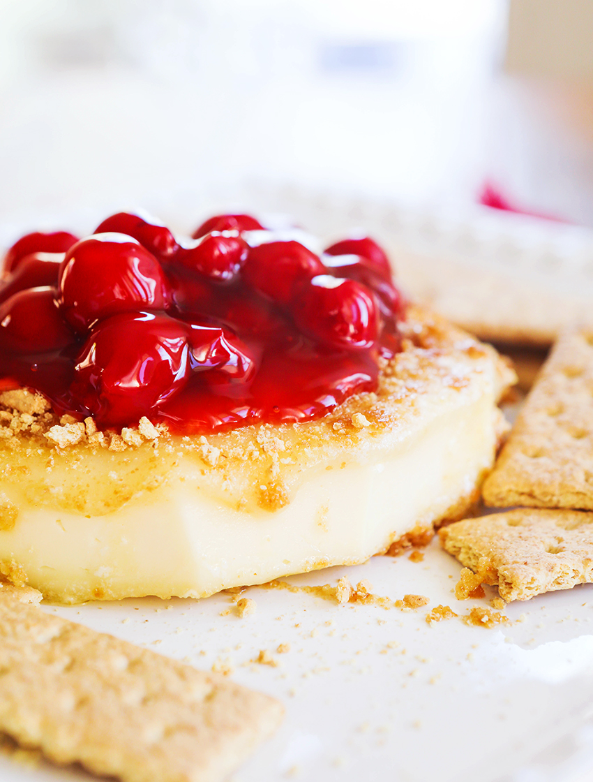 Pan-Fried Brie with Cherries