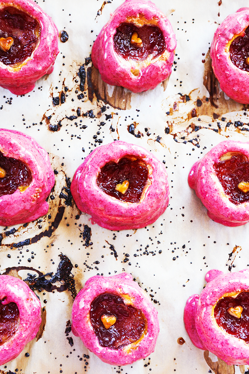 Baked Fruit-Filled Raspberry Puff Pastry Donuts