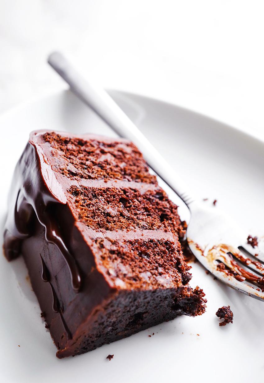 Chocolate Espresso Cake with Chocolate Ganache