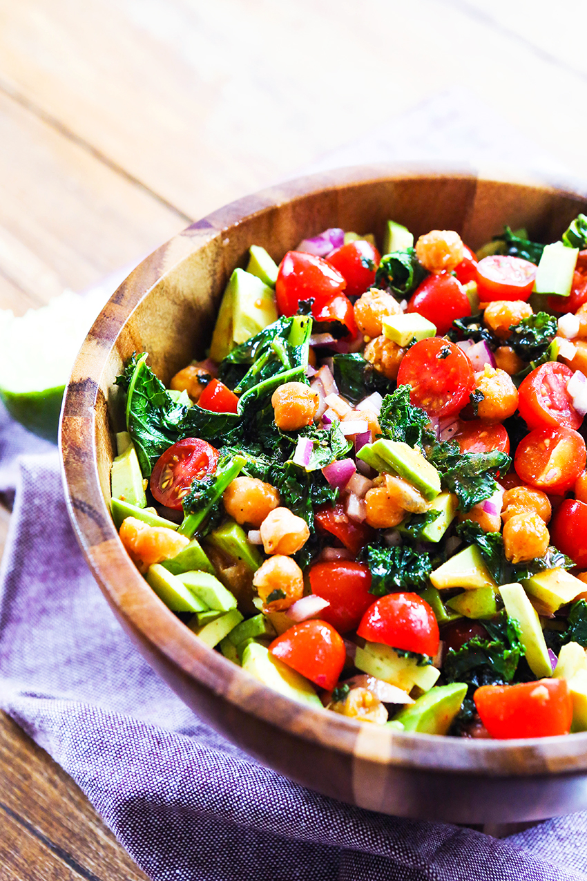 Crispy Kale And Garbanzo Bean Salad
