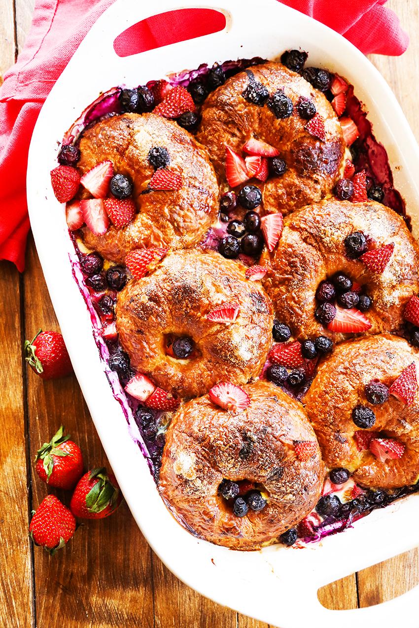 Mixed Berry Croissant Breakfast Bake