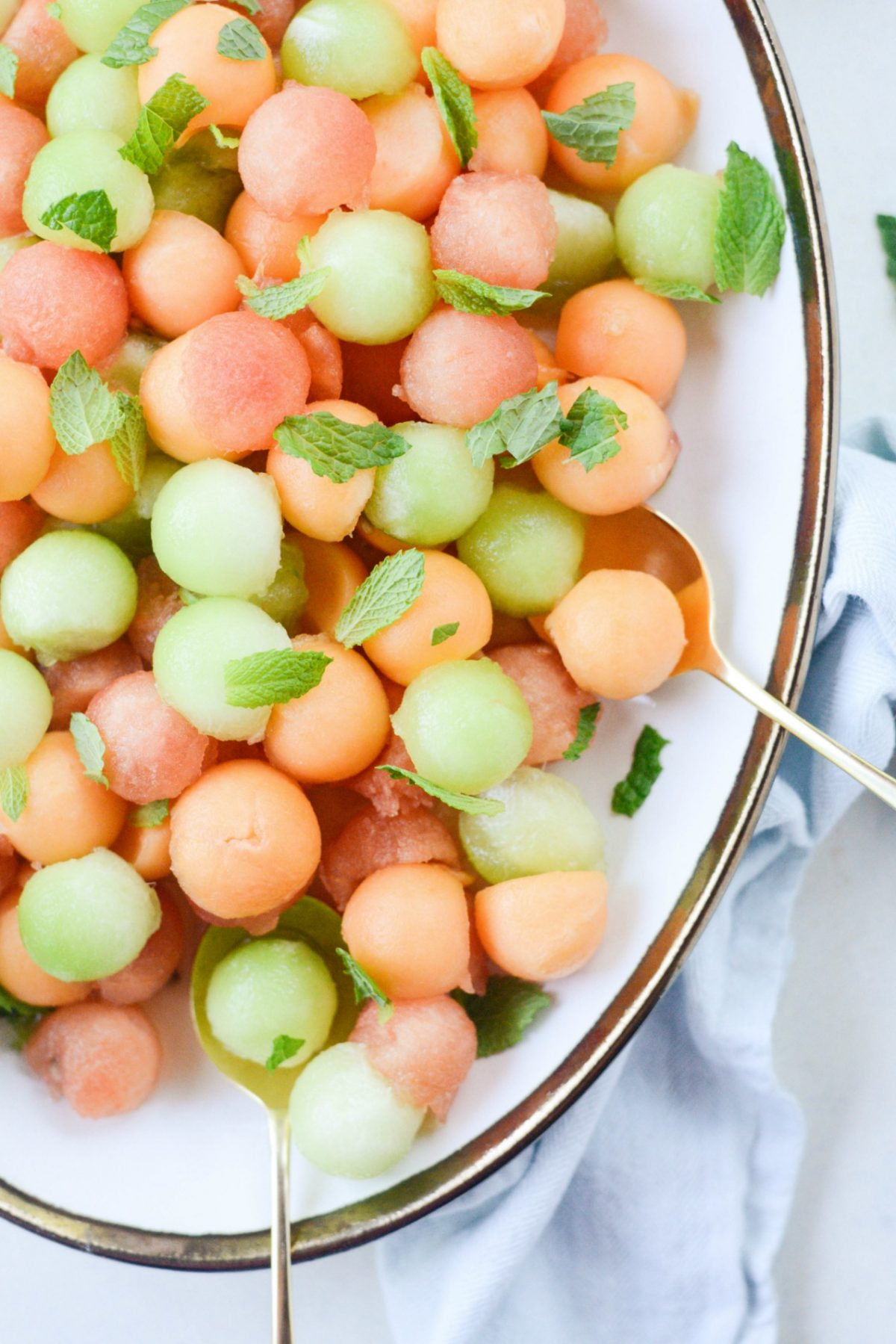 Melon-Salad-with-Honey-Lime-and-Mint