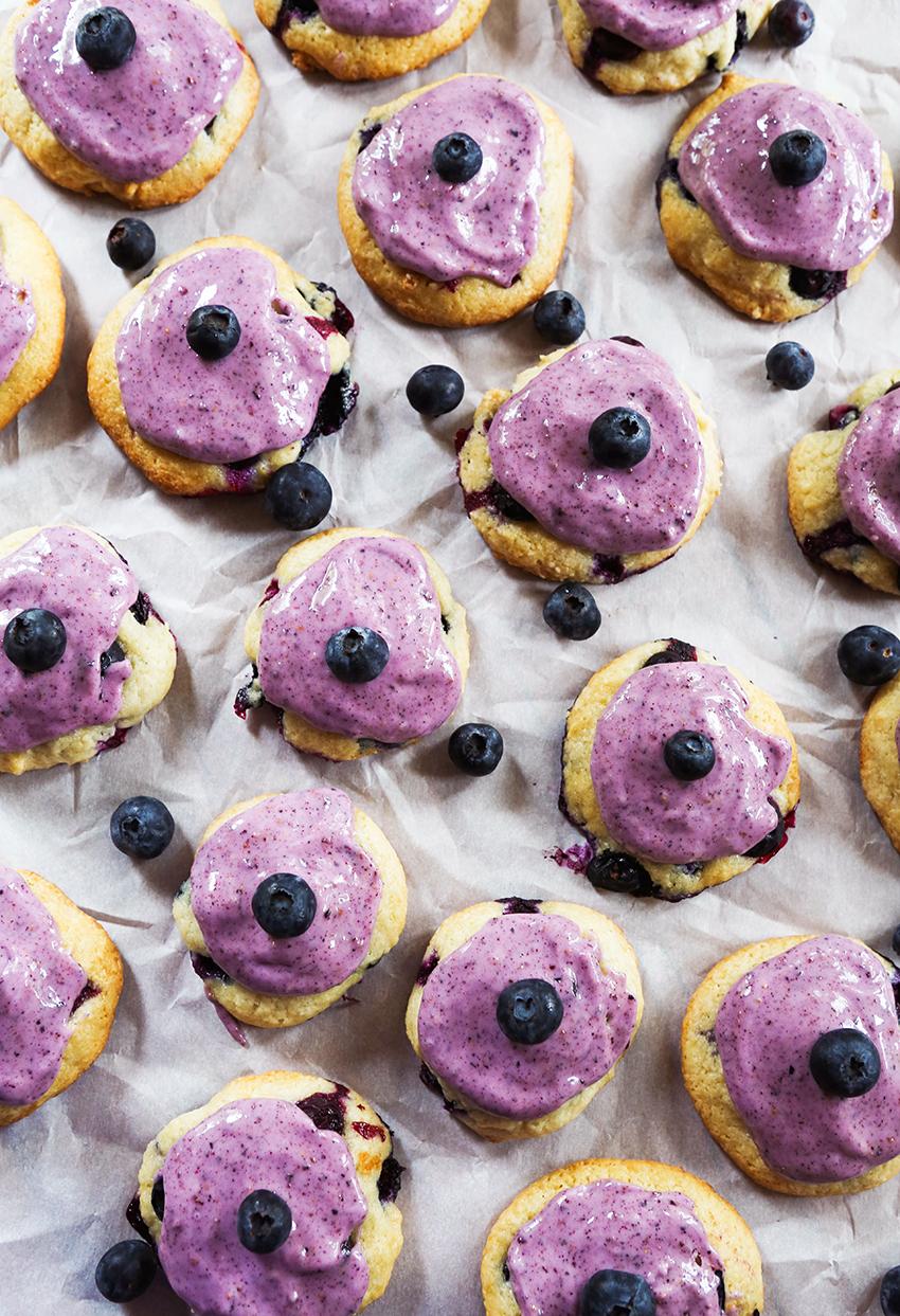 Blueberry Ice Cream Cookies
