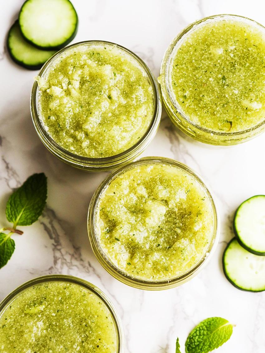 How To Make Cucumber Mint Sugar Scrub Recipe Pipandebby Com