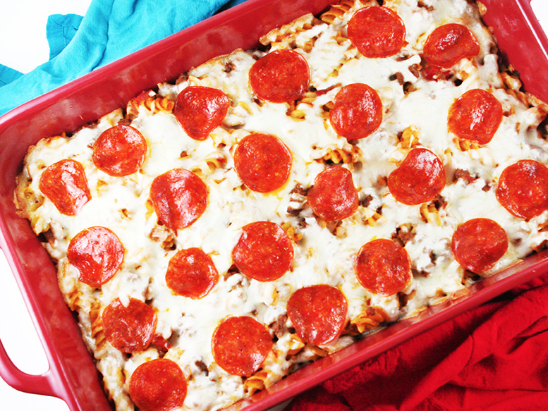 Pizza+Pasta+Bake