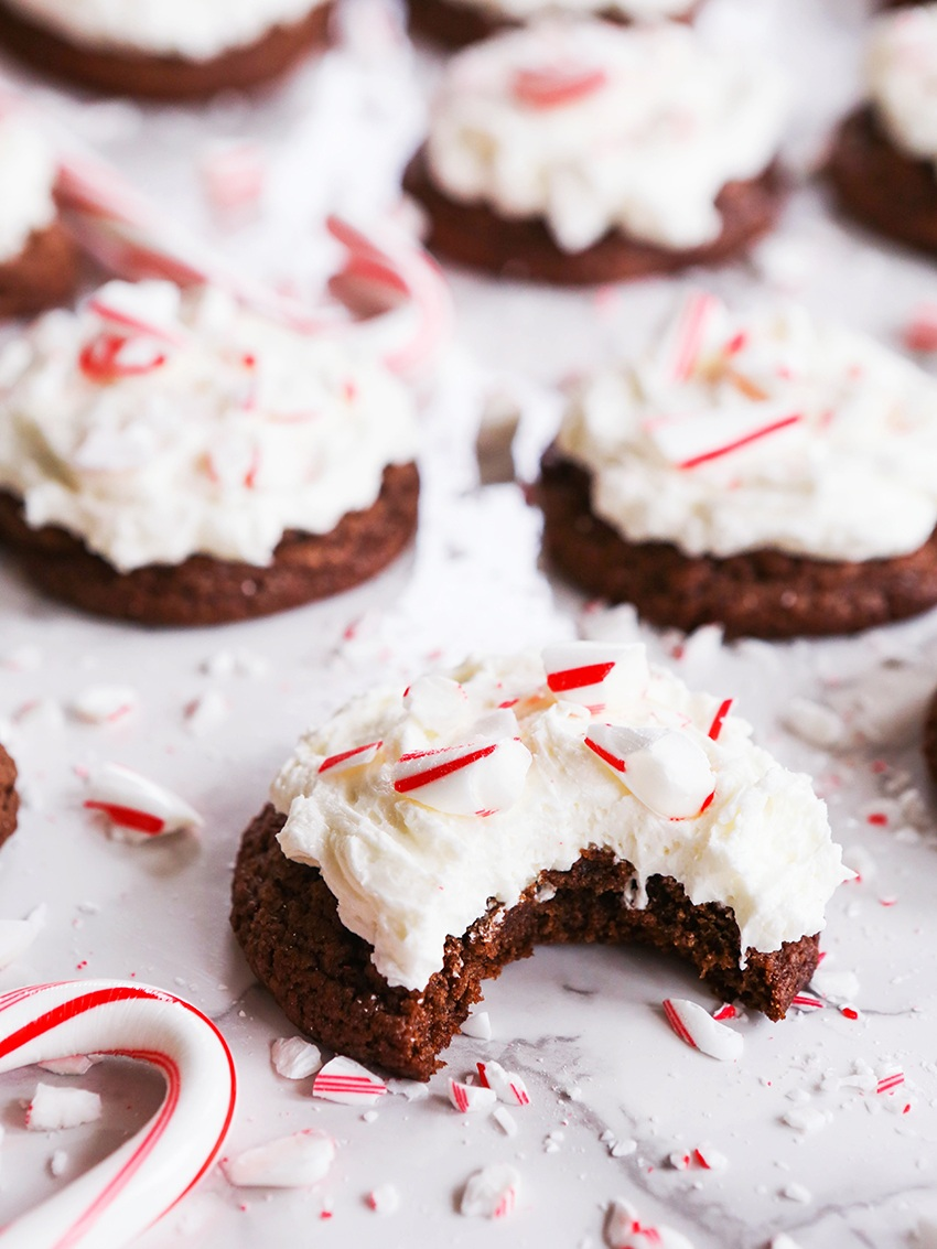 Triple+Chocolate+Cookies+with+Peppermint+Frosting