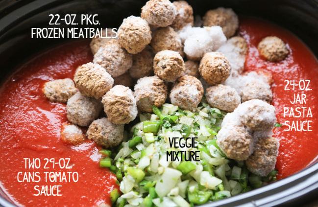 Crockpot Spaghetti Meatballs
