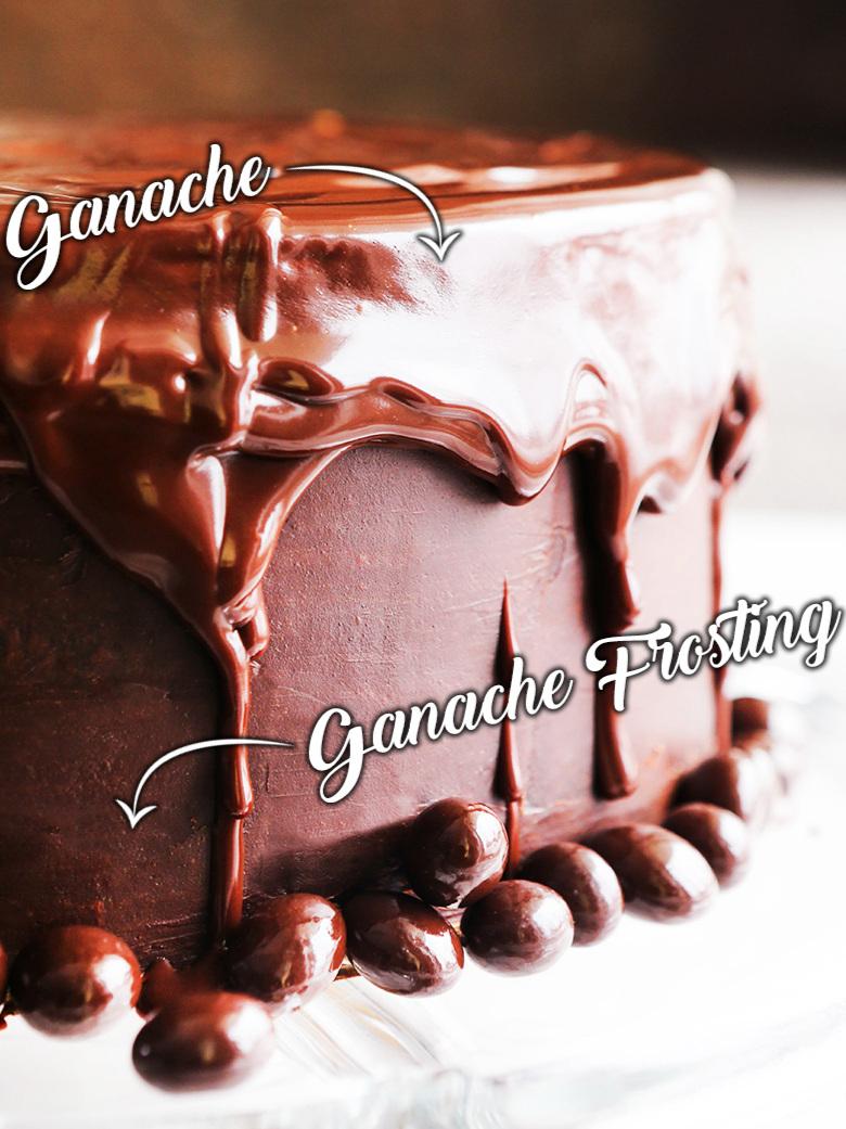 chocolate cake dripping with ganache