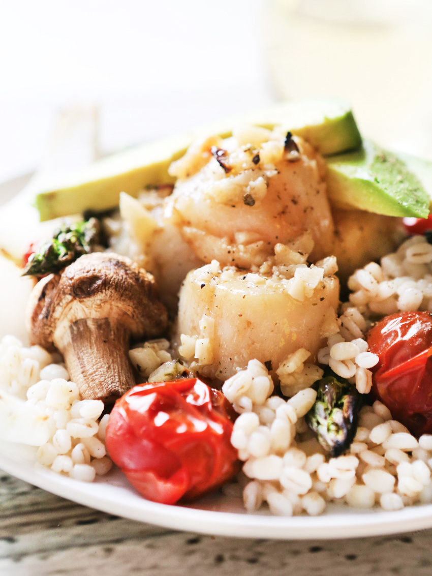 Grilled Scallops and Vegetables Recipe