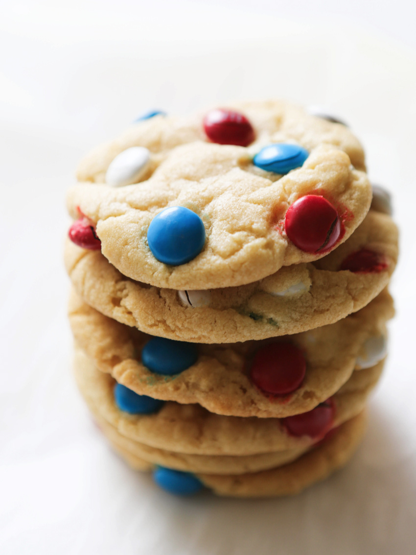 Ice Cream Sandwiches made with M&M's Cookies