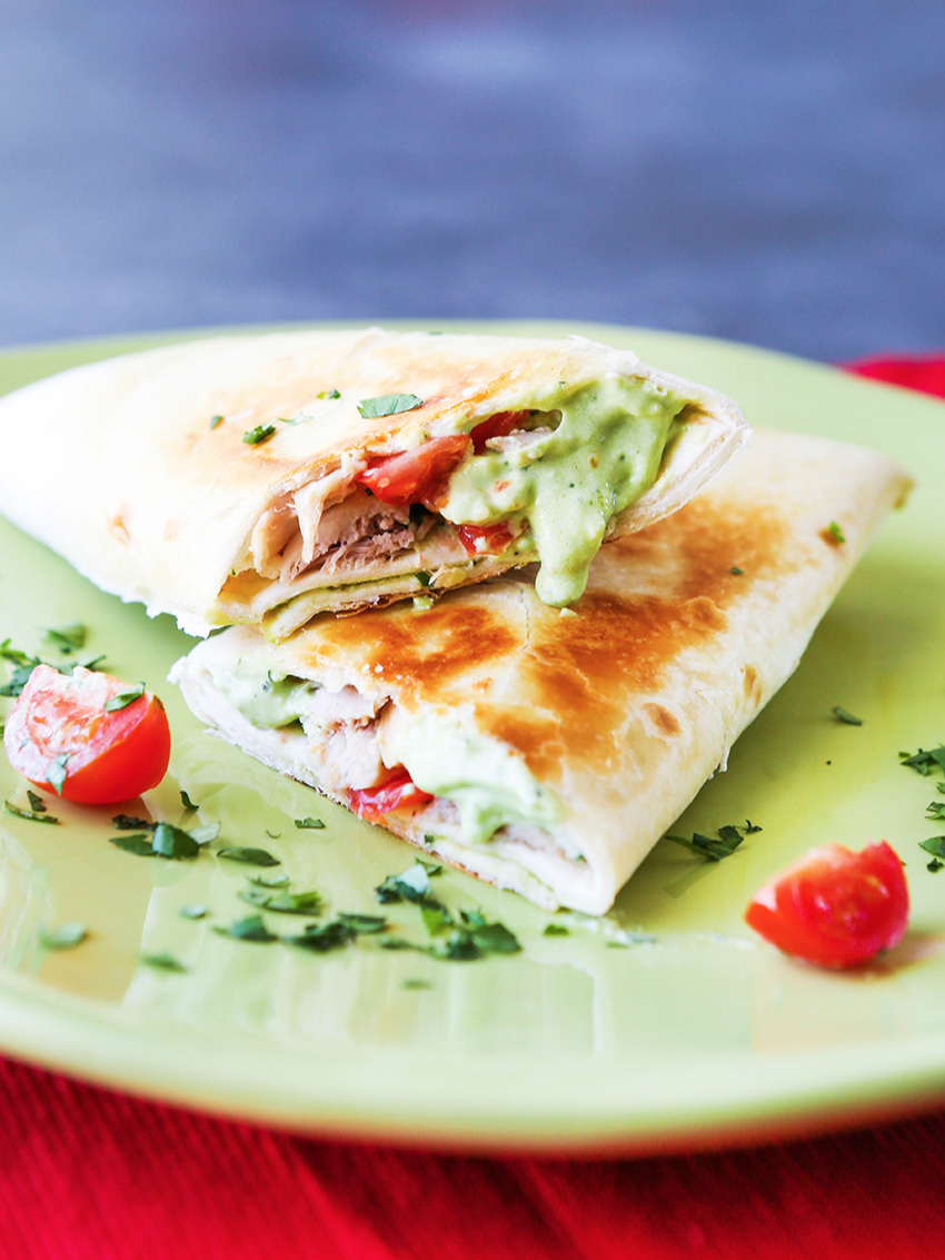 Avocado Ranch Chicken Wrap Recipe