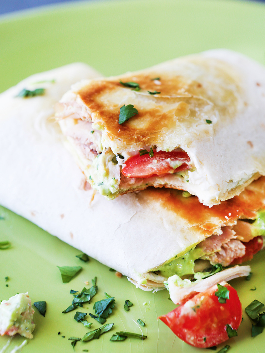 Avocado Ranch Chicken Wrap
