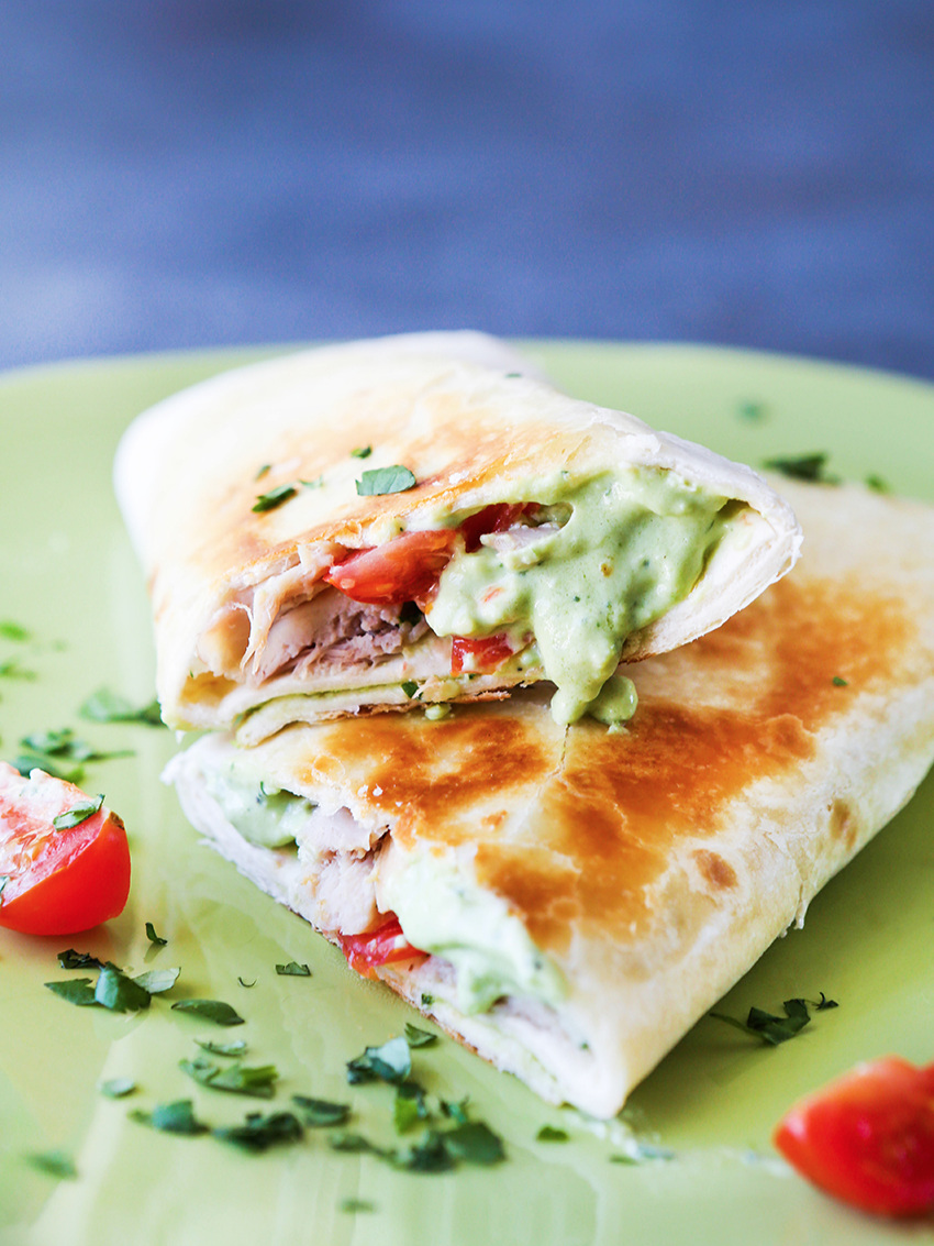 Avocado Ranch Chicken Wraps Recipe