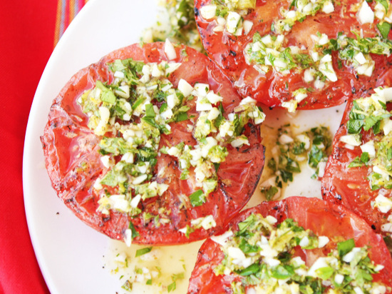 Grilled Tomatoes with Herbs Recipe