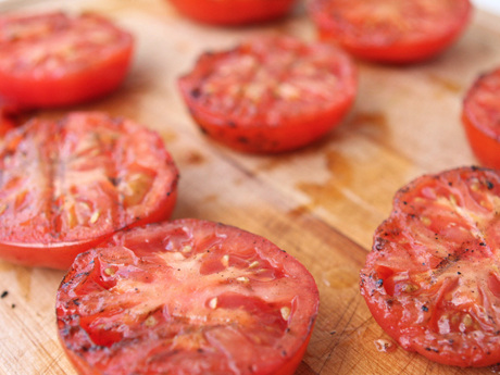 Grilled Tomatoes with Herbs and Lemon
