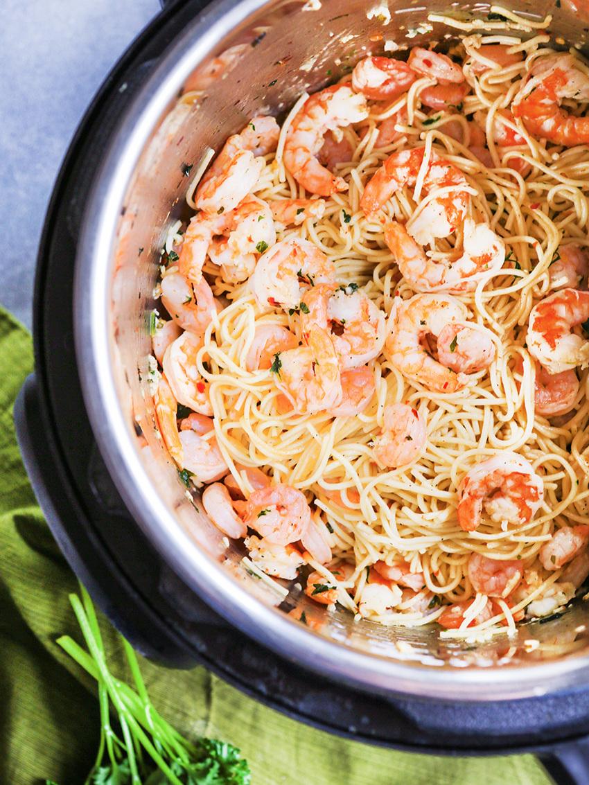Pressure Cooker Shrimp Scampi Recipe