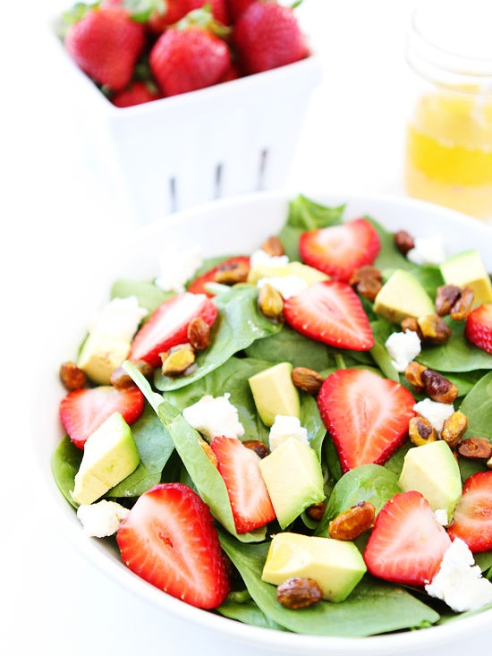 Strawberry-Spinach-Salad-with-Avocado-Goat-Cheese-and-Candied-Pistachios-twopeasandtheirpod.jpg