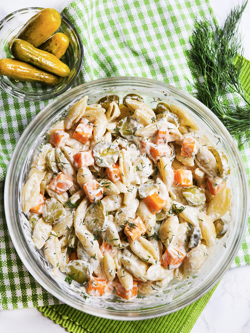 Delicious Dill Pickle Pasta Salad