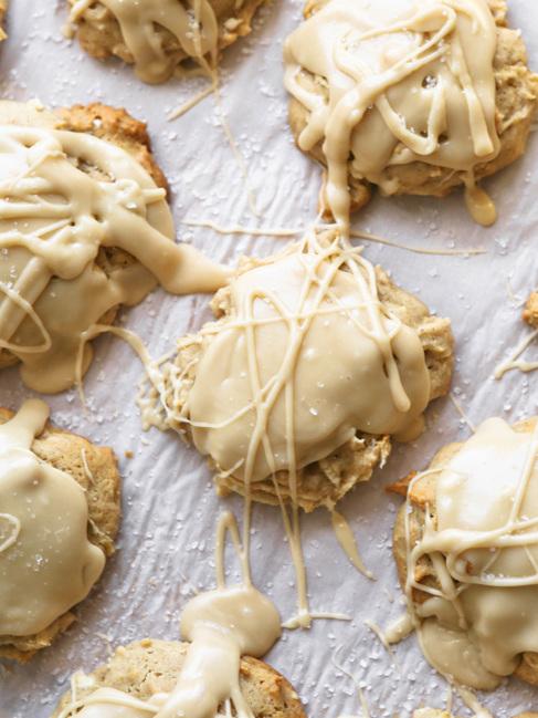Best Salted Caramel Apple Cookies