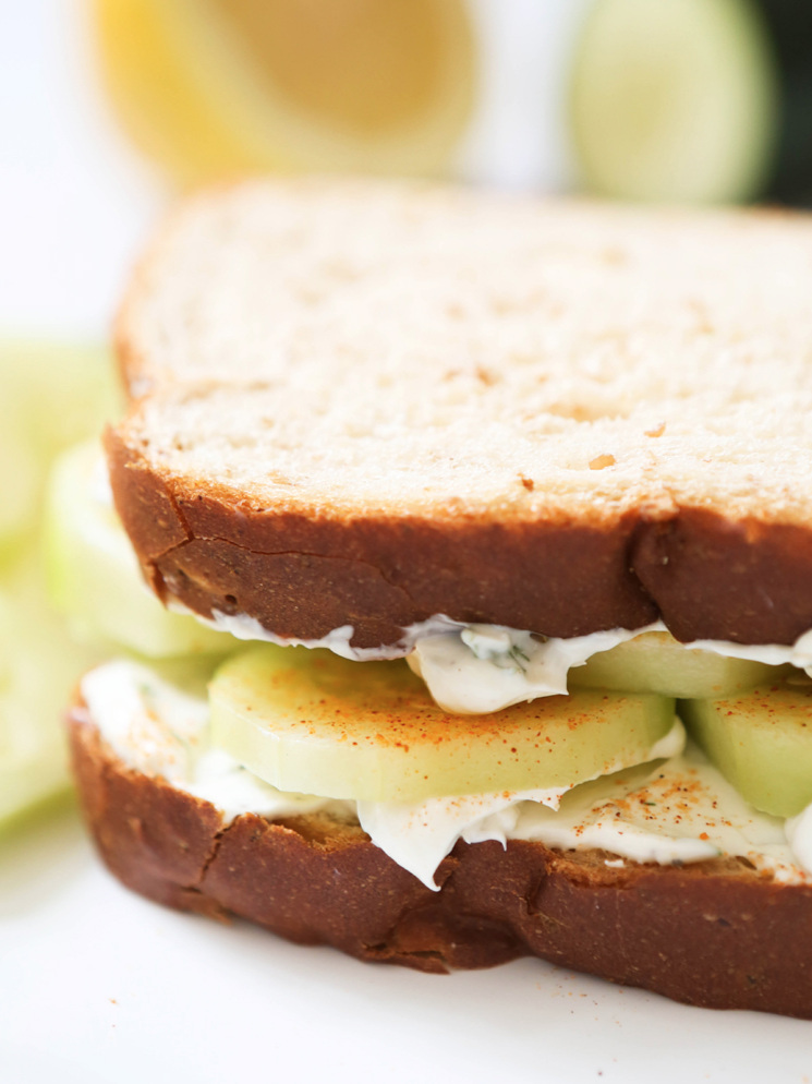 Cucumber Cream Cheese Sandwiches Recipe