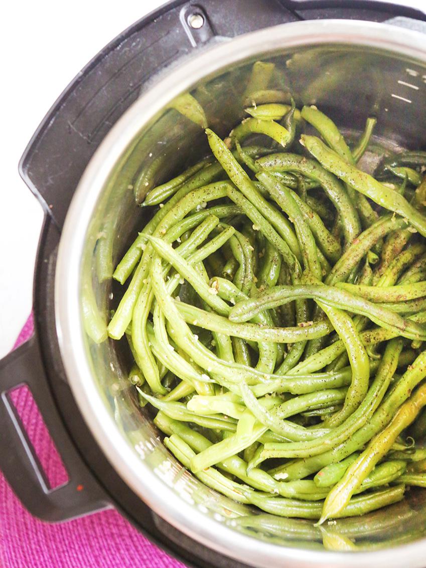 instant pot green beans in pot