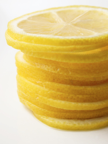 stack of thinly sliced lemons
