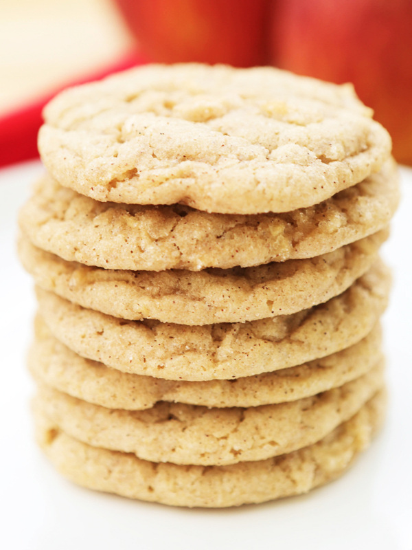 tall stack of snickerdoodle cookies