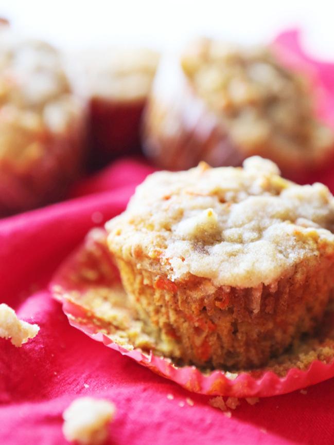muffin sitting inside a muffin wrapper