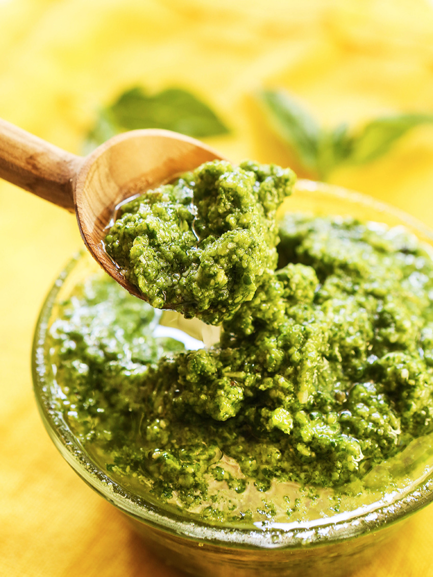 Spinach Basil Pesto Recipe