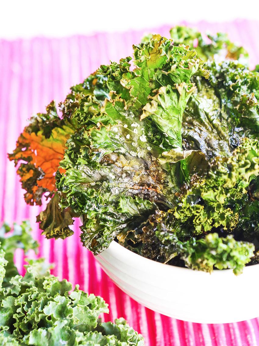 Bowl full of crispy kale