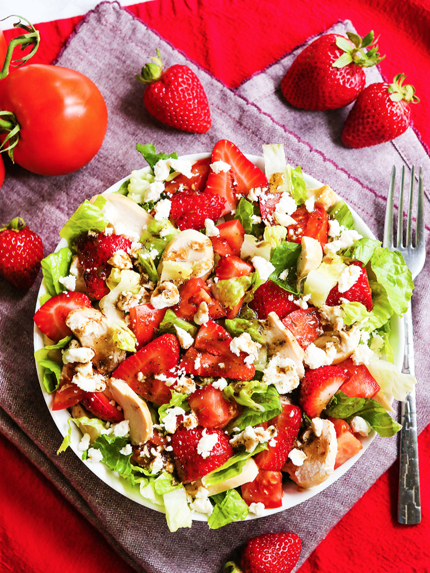 Strawberry Chicken Salad requires just a handful of ingredients. This is such a tasty little lunch and it's beyond easy to make.