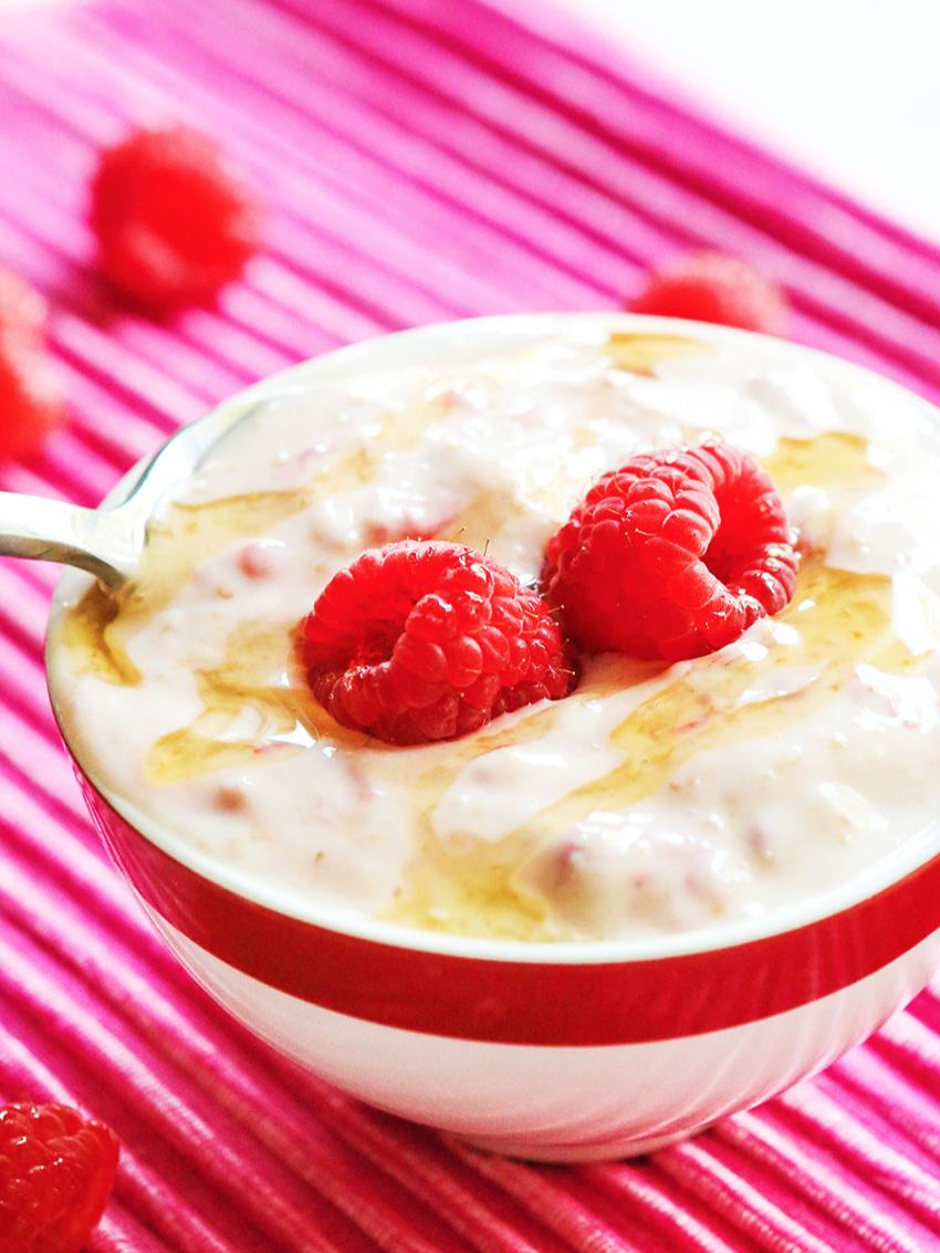 Healthy Raspberry Honey Yogurt Recipe