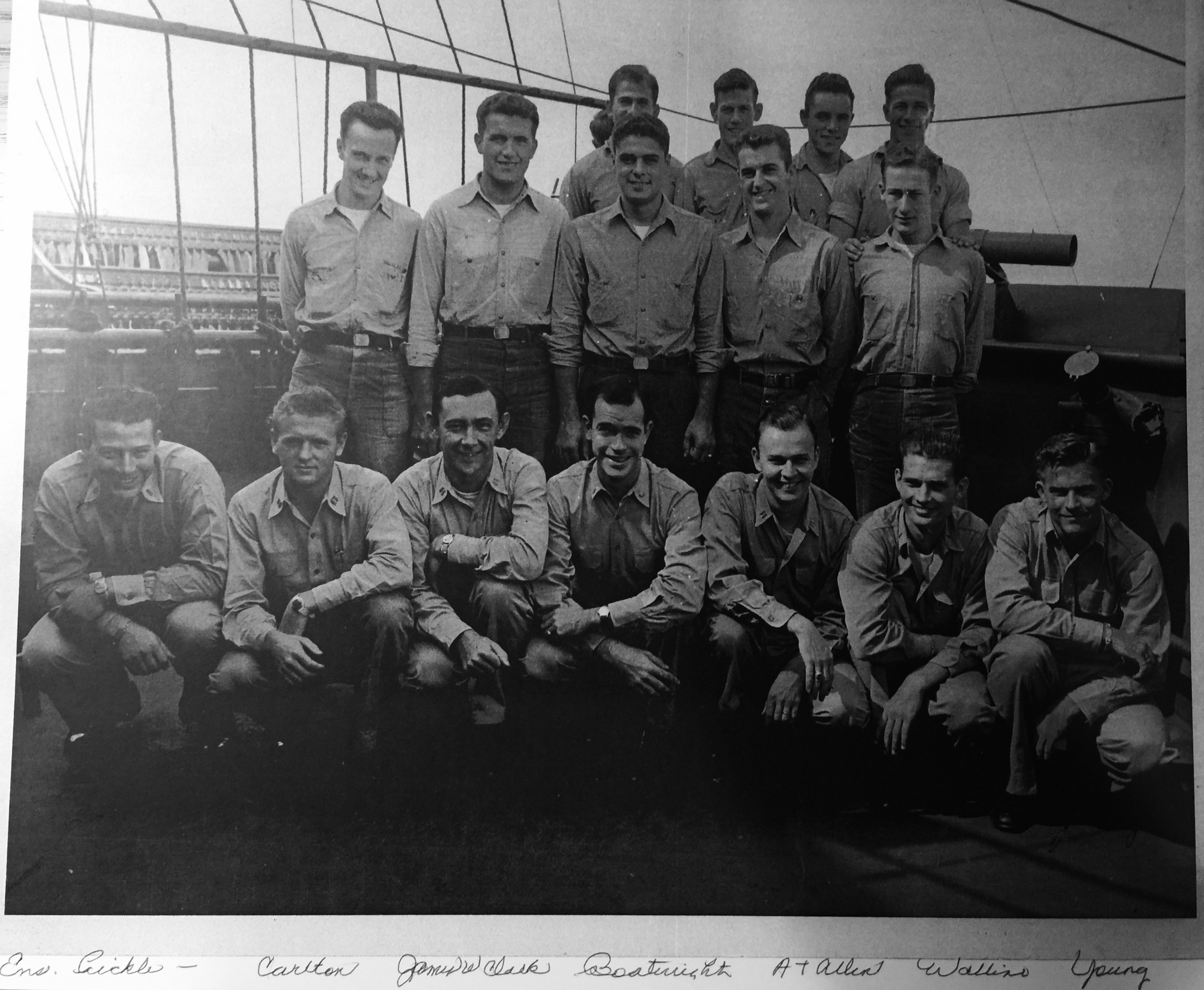 Shore Fire-Control party Officers and Enlisted men